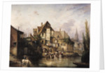 The Petits Murs Wash-House by Victor Theophile Tesniere