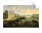 The Seine Viewed with the Pont Neuf, the Louvre and the College Mazarin by French School