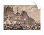 Robespierre, Saint-Just, Couthon and Hanriot Taking Refuge in the Hotel-de-Ville in Paris, 9 Thermidor Year II (27th July 1794) by Charles Monnet