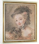 Young Girl with a Small Dog by Francois Boucher