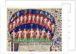 Fol.1 Signs of the zodiac and a group of men by Portuguese School