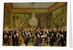 The Salon of Alfred Emilien, Comte de Nieuwerkerke at the Louvre by Francois Auguste Biard