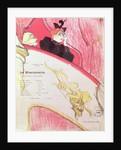 Cover of a programme for 'Le Missionaire' at the Theatre Libre by Henri de Toulouse-Lautrec