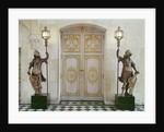 Doors to the vestibule opposite the staircase by French School
