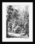 Act V Scene vii from 'King John' by William Shakespeare engraved by Hubert Gravelot by Francis Hayman
