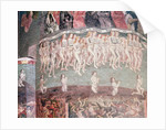 The Last Judgement: The resurrected carrying the book of their life around their necks by French School