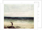 The Artist on the Seashore at Palavas by Gustave Courbet