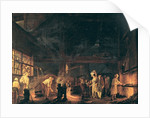 Interior of a Forge by Jean Baptiste Bernard Coclers