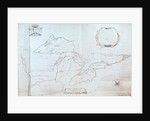 Map of the Great Lakes by Jolliet
