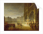 Blessing of the Flags in Front of Notre-Dame in 1804 by French School