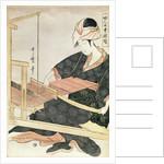 Woman Weaving by Kitagawa Utamaro