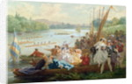 A Regatta at Asnieres during the Second Empire by Antony Paul Emile Morlon