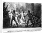 Alexandre Lenoir opposing the destruction of the royal tombs of the French monarchy in the Church of Saint-Denis by French School