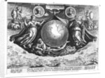 Discovery of America with portraits of Amerigo Vespucci and Christopher Columbus by Jan van der Straet