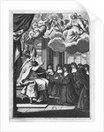 St. Francois de Salles Giving the Rule of the Visitation to St. Jeanne de Chantal by Gilles Rousselet