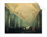 Banquet Given for Napoleon Bonaparte in the Grande Galerie of the Louvre by Hubert Robert