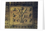 Flowering plant, detail of a panel from the circular gallery by Indian School