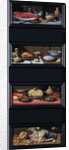Four Still Lives of Food and Fruit by Jan van