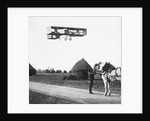 Flight by Henri Farman from Chalons to Reims by French Photographer