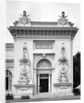 Gate of the military exhibition at the Universal Exhibition, Paris by Adolphe Giraudon