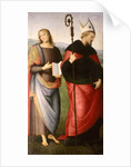 St. John the Evangelist and St. Augustine of Hippo by Pietro Perugino