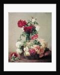 Roses by Ignace Henri Jean Fantin-Latour