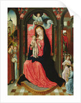 Madonna Enthroned Surrounded by Angels by Master of the Legend of St. Ursula