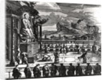 A Buddhist Ceremony from, 'Indiae Orientalis' by Theodore de Bry