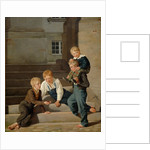 Young Boys Playing Dice in Front of Christiansborg Castle, Copenhagen by Carl-Christian-Constantin Hansen