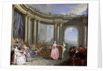 The Minuet by Jacques Sebastien Le Clerc