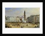 Piazza Mazaniello, Naples by Jean Auguste Bard
