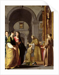 St. Clare Receiving the Veil from St. Francis of Assisi by Italian School