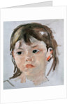 Head of a Young Girl by Mary Stevenson Cassatt