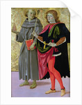 St. Sebastian with a Franciscan Saint by Pietro Perugino