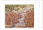 Battle Between Indian Tribes by Jacques Le Moyne