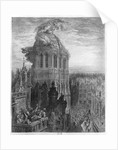 Gargantua on the towers of Notre-Dame at Paris by Gustave Dore