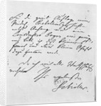 Page of text with his signature by Friedrich Schiller