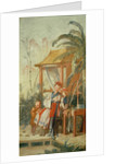 A Chinese Garden, study for a tapestry cartoon by Francois Boucher