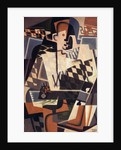 Harlequin with a Guitar by Juan Gris