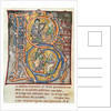 Historiated initial 'B' depicting King David by French School