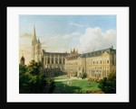 The Abbey Church of Saint-Denis and the School of the Legion of Honour in 1840 by Aline Clement