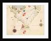 Map of South America and the Magellan Straits by Fernao Vaz Dourado