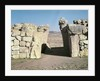 The King's Gate from the walls of Hattusas by Hittite