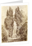 Large Cypresses at the Villa d'Este by Jean-Honore Fragonard