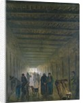 Corridor of the Saint-Lazare Prison in 1793 by Hubert Robert
