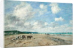 The Beach at Tourgeville by Eugene Louis Boudin