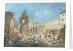 Demolition of the Couvent des Cordeliers by Pierre Antoine Demachy