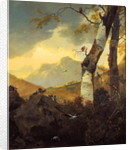 Mountainous Landscape with Goats and Birds, c.1657 by Adam Pynacker