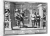 Comedians at the theatre of Hotel de Bourgogne by Abraham Bosse