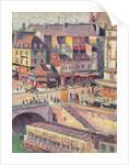 The Pont Saint-Michel and the Quai des Orfevres, Paris by Maximilien Luce